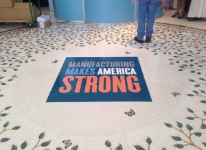 Custom Lobby Floor Vinyl Graphics